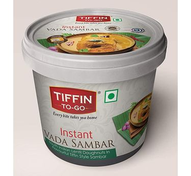 Instant Vada Sambar (Serves 1) 60g, Ready to eat meal, Tiffin to Go