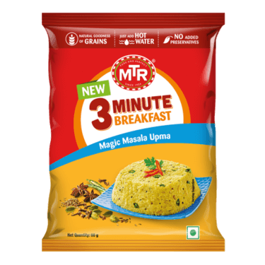 Magic Masala Upma Pouch (Serves 1) 60g, Ready to eat meal, MTR Foods