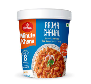 Rajma Chawal (Serves 1) 105g, Haldirams Minute Khana, Ready to eat