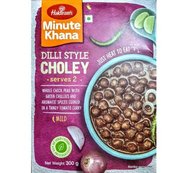 Dilli Style Choley (Serves 2) 300g, Haldirams Minute Khana, Heat to eat