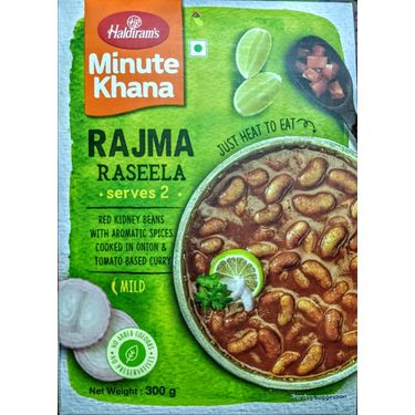 Rajma Raseela (Serves 2) 300g, Haldirams Minute Khana, Heat to eat