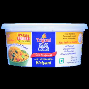 Veg Biryani (Serves 2) 105g, Ready to eat meal, Triguni Eze Eats
