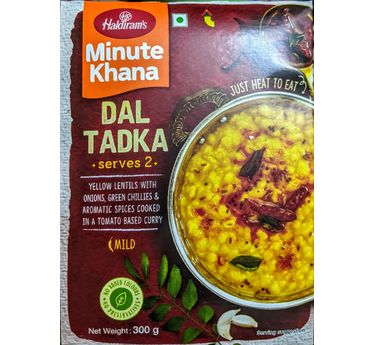 Dal Tadka (Serves 2) 300g, Haldirams Minute Khana, Heat to eat