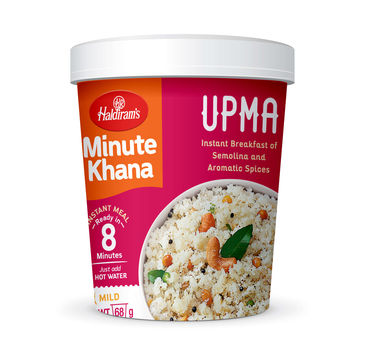 Upma (Serves 1) 68g, Haldirams Minute Khana, Ready to eat