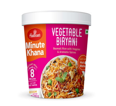 Vegetable Biryani (Serves 1) 70g, Haldirams Minute Khana, Ready to eat