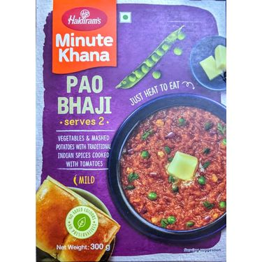 Pao Bhaji (Serves 2) 300g, Haldirams Minute Khana, Heat to eat