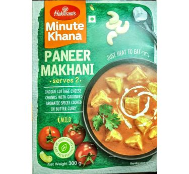 Paneer Makhani (Serves 2) 300g, Haldirams Minute Khana, Heat to eat