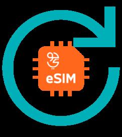 استبدال الشريحة eSIM