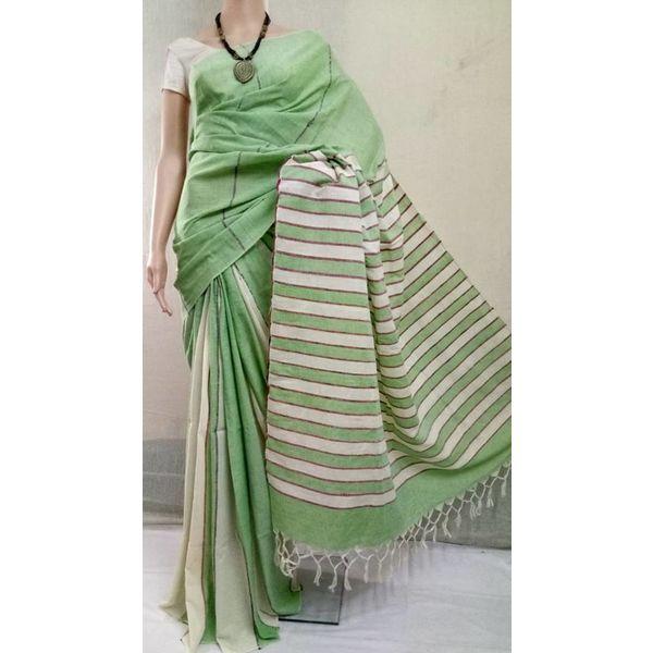 Pure Cotton Khes Saree 3