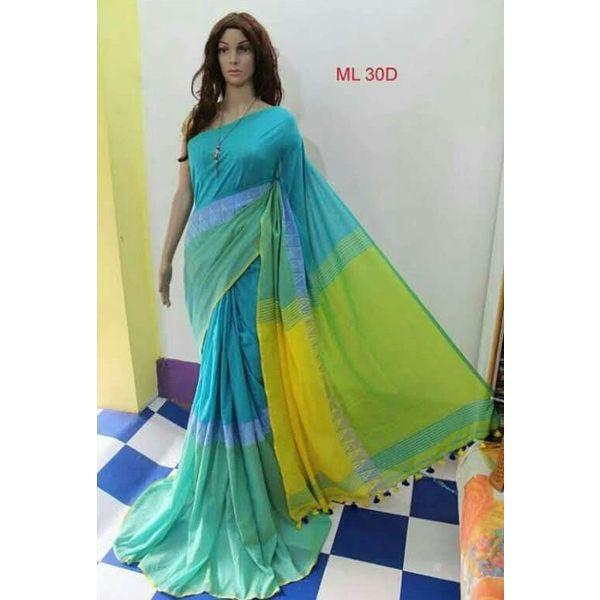 Madhyamoni Khadi Cotton Sarees Directly from Weavers 7