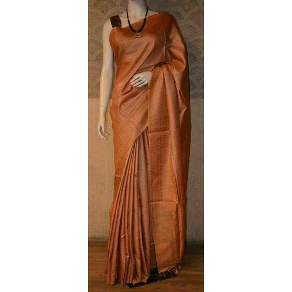 Bhagalpuri Tussar Moonga Silk Saree 5