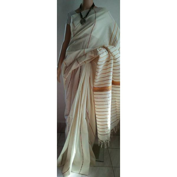 Pure Cotton Khes Saree 18