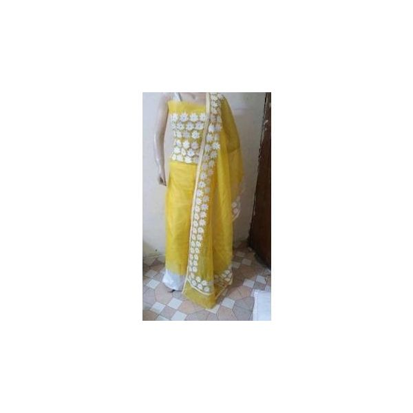 Supernet Kota Suit with Aari Work 9