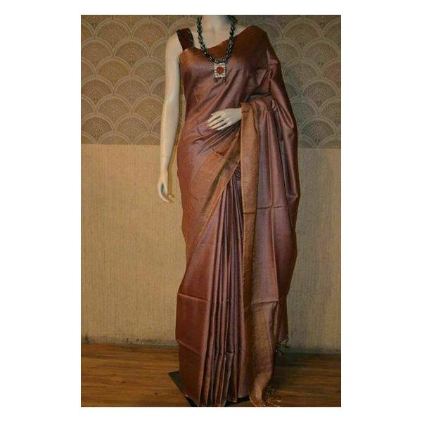 Bhagalpuri Tussar Moonga Silk Saree 10