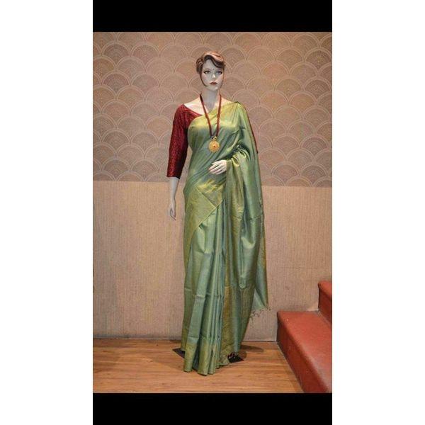 Bhagalpuri Tussar Moonga Silk Saree 3