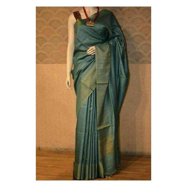 Bhagalpuri Tussar Moonga Silk Saree 7