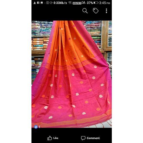 Linen By Linen Ball Butta Jamdani Saree 5.5 Metre with 80cm Blouse Piece 7