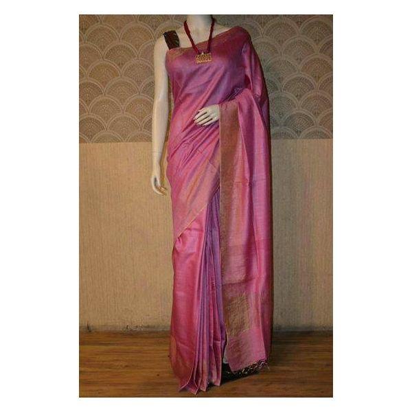 Bhagalpuri Tussar Moonga Silk Saree 8