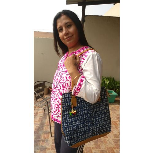 Mulmul Large Shopping Carry Party Bag with Long Strap 1