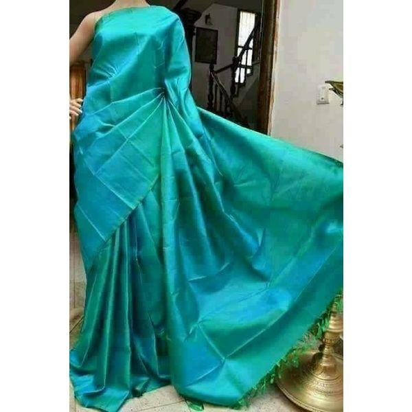Bishnupuri Silk Saree in Solid/Plain Colours 16