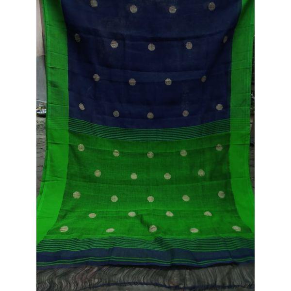 Linen By Linen Ball Butta Jamdani Saree 5.5 Metre with 80cm Blouse Piece 18