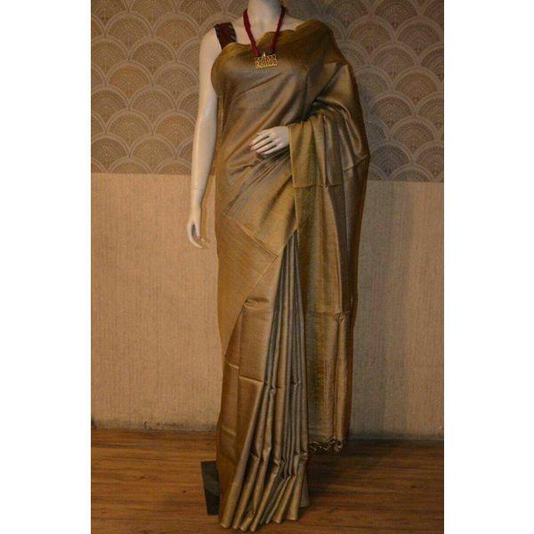 Bhagalpuri Tussar Moonga Silk Saree 6