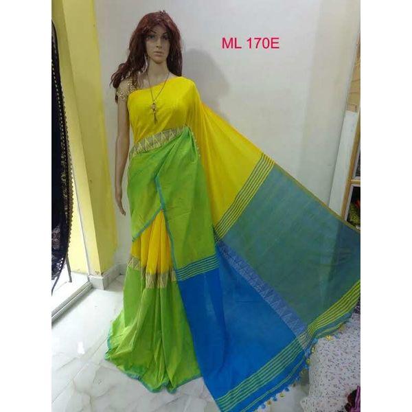 Madhyamoni Khadi Cotton Sarees Directly from Weavers 20