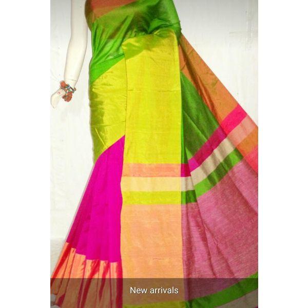 Mahapar Cotton Silk Saree 6.3 metre length with Blouse Piece 20