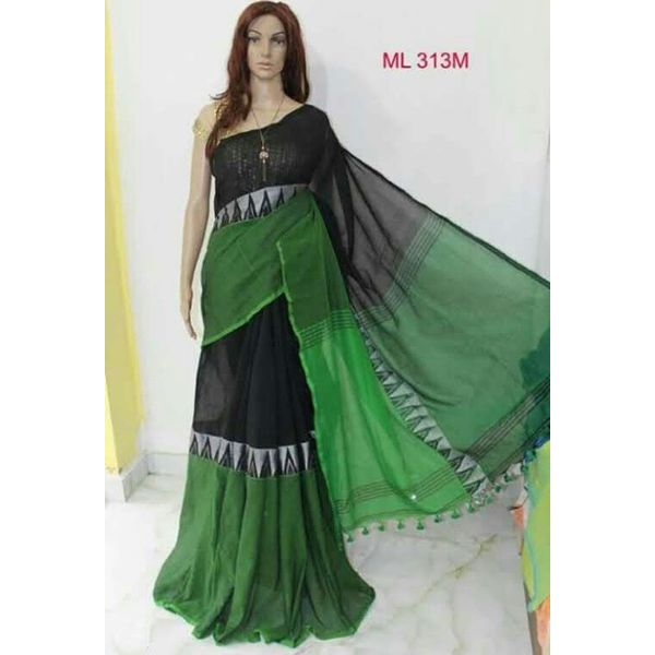 Madhyamoni Khadi Cotton Sarees Directly from Weavers 9