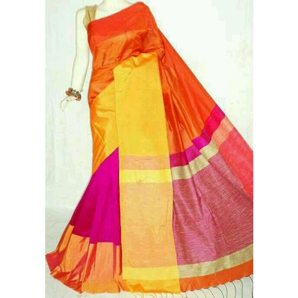 Mahapar Cotton Silk Saree 6.3 metre length with Blouse Piece 16