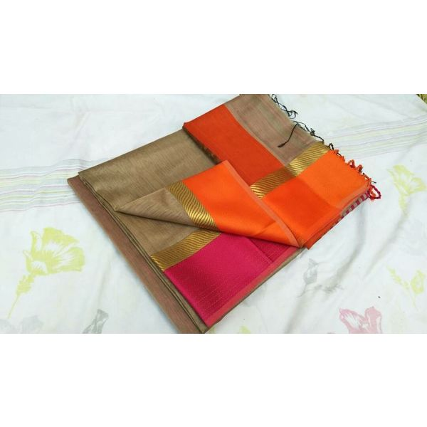 Pure Maheswari Cotton Silk Saree 1