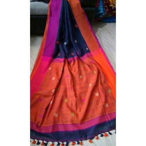 Linen By Linen Ball Butta Jamdani Saree 5.5 Metre with 80cm Blouse Piece 1