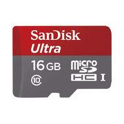 SanDisk Ultra microSDHC UHS-I Card, 16GB, CLASS 10+ SD Adaptor