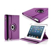 Discountonly4u 360 Degree Rotating Leather Smart Cover Case With Stand For Ipad Mini