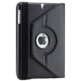 Gearonic 360 Degree Rotating PU Leather Case Cover with Swivel Stand for iPad mini Black