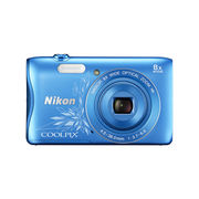 Nikon Coolpix S3700 16MP Digital Camera (Decorative Blue)