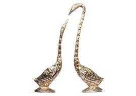 JaipurCrafts Pair Of Kissing Duck Showpiece - 33 cm