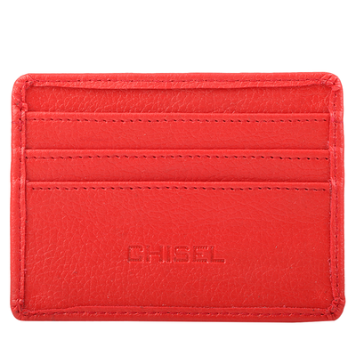 Chisel Red Leather Wallet