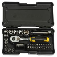 "STANLEY USA Compact Socket Set, 1/4"" , Silver (37pcs)"