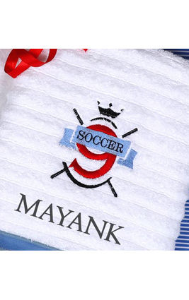 Soccer Fun Bath Towel