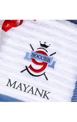Soccer Fun Bath Towel