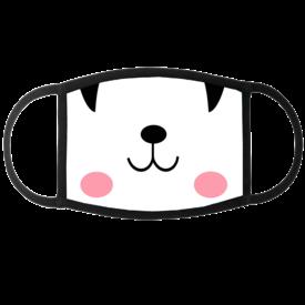 Peekaboo Face Mask (Black & White)