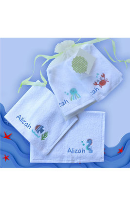 Under The Sea Face Towel Set