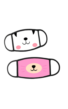 Peekaboo Face Mask (2 Pc)