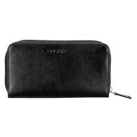 Cognac Black Leather Wallet