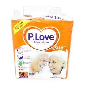 Disposable Adult Diaper - P. Love - Medium
