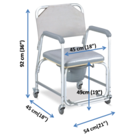 Aluminium All-in-one - Shower, Commode wheelchair(699)