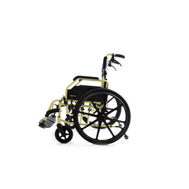 Premium wheelchair with large wheels(602),  metallic champagne