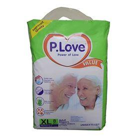 Disposable Adult Diaper - P. Love - XLarge (8 Pcs)