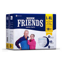 Pull Up Diaper-Friends -Large